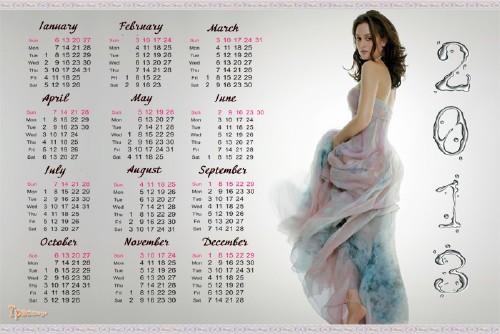 Календарь 2013-2014 год - Gossip Girl (Сплетница)-Блэр Уолдорф (Лейтон Мистер - Leighton Meester) PSD l 2400x3600 l...